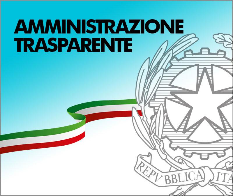 banner amministrazione trasparente con link ad applicazione esterna al sito